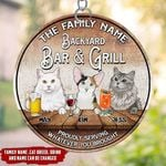 Personalized The Family Name, Cat Breed ,Name and Drink Backyard Bar & Grill PRINTS Suncatcher tdh | HQT-41VN001