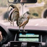 ROOSTER CAR HANGING ORNAMENT