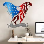 USA Flag Bald Eagle Cut Metal Sign tdh | hqt-49CT01