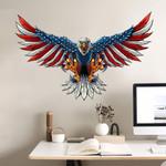 USA Flag Bald Eagle Cut Metal Sign tdh | hqt-49CT02