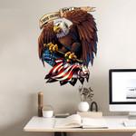 USA Flag Bald Eagle Cut Metal Sign tdh | hqt-49CT04