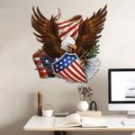 USA Flag Bald Eagle Cut Metal Sign tdh   hqt-49CT06