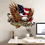 USA Flag Bald Eagle Cut Metal Sign tdh | hqt-49CT07