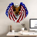 USA Flag Bald Eagle Cut Metal Sign tdh | hqt-49CT10