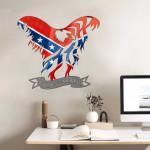 Confederate Flag Bald Eagle Cut Metal Sign tdh | hqt-49sh001