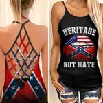 Confederate Flag Skull Woman Cross Tank Top tdh   HQT-35CT60