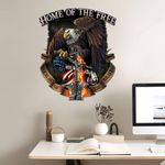 Veteran USA Flag Bald Eagle Cut Metal Sign tdh | HQT-49CT11