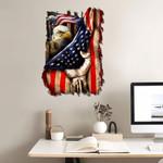 Veteran USA Flag Bald Eagle Cut Metal Sign tdh | HQT-49CT12