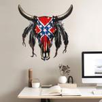 Confederate Flag Bald Eagle Cut Metal Sign tdh   hqt-49CT15