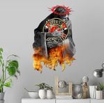 Firefighting God Cut Metal Sign HQT-49CT23
