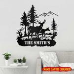 Personalized Name Deer Hunting Cut Metal Sign tdh   hqt-49sh003