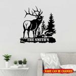 Personalized Name Deer Hunting Cut Metal Sign tdh   hqt-49sh004