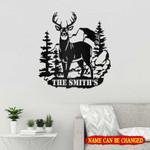 Personalized Name Deer Hunting Cut Metal Sign tdh | hqt-49sh005