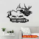 Personalized Name Deer Hunting Cut Metal Sign tdh   hqt-49sh006