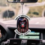 Confederate Flag Skull CAR HANGING ORNAMENT tdh | hqt-37CT94