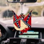 Confederate Flag CAR HANGING ORNAMENT tdh | hqt-37CT95