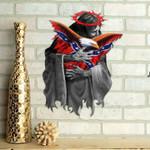 Confederate Flag Eagle Cut Metal Sign hqt-49ct24