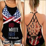 Red White Blue and Whiskey Too Woman Cross Tank Top tdh   hqt-35sh008