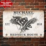 Personalized Confederate Flag METAL SIGN hqt-29ct03