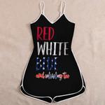 Confederate Flag Jumpsuit 3D Full Printing tdh | hqt-sh062