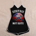 Confederate Flag Jumpsuit 3D Full Printing tdh   hqt-sh066