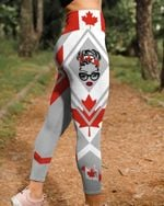 Canada Skull 3D Legging Full Printing HQT-LTP004