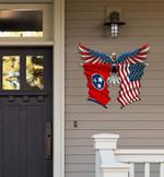 Tennessee Flag Eagle Cut Metal Sign hqt-49xt005
