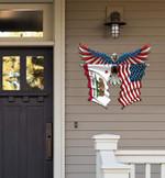 California Flag Eagle Cut Metal Sign hqt-49xt006