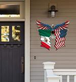 Mexico Flag Eagle Cut Metal Sign hqt-49xt008