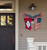 Arkansas Flag Eagle Cut Metal Sign hqt-49xt016