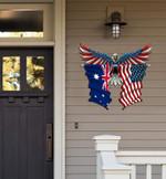 Australia Flag Eagle Cut Metal Sign hqt-49xt017