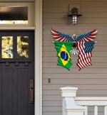 Brazil Flag Eagle Cut Metal Sign hqt-49xt018