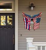 Hawaii Flag Eagle Cut Metal Sign hqt-49xt028