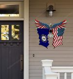 Kentucky Flag Eagle Cut Metal Sign hqt-49xt032
