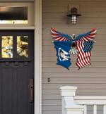 Louisiana Flag Eagle Cut Metal Sign hqt-49xt033