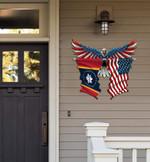 Mississippi Flag Eagle Cut Metal Sign hqt-49xt036