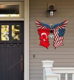 Turkey Flag Eagle Cut Metal Sign hqt-49xt039