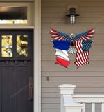 France Flag Eagle Cut Metal Sign hqt-49xt042