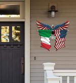 Italy Flag Eagle Cut Metal Sign hqt-49xt043