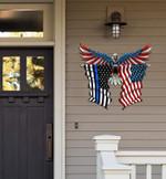 Police Flag Eagle Cut Metal Sign hqt-49xt047