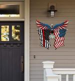 Firefighting Flag Eagle Cut Metal Sign hqt-49xt048