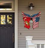 Marine Corp Flag Eagle Cut Metal Sign hqt-49xt051