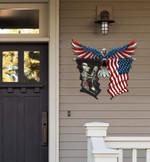Trucker Flag Eagle Cut Metal Sign hqt-49xt052