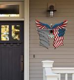 Racing Flag Eagle Cut Metal Sign hqt-49xt056
