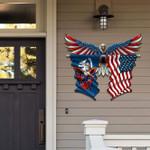 Louisiana With Confederate Eagle Cut Metal Sign HQT-49CT46