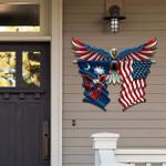 South Carolina With Confederate Eagle Cut Metal Sign HQT-49CT48