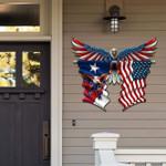 Texas With Confederate Eagle Cut Metal Sign hqt-49ct51