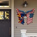 Arizona With Confederate Eagle Cut Metal Sign hqt-49ct53