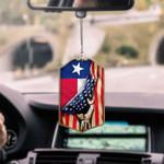 Texas Flag CAR HANGING ORNAMENT tdh | hqt-37dd10