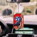 Tennessee Flag CAR HANGING ORNAMENT tdh   hqt-37dd13